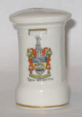 CHESHIRE PILLAR BOX: NEW BRIGHTON Crest on Front. 71mm High. No Maker.