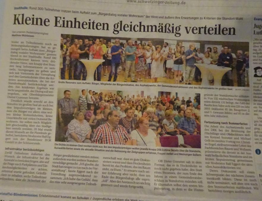 Quelle: Pressebericht Schwetzinger Zeitung vom 23.06.17