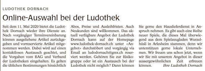 Wochenblatt vom 21.05.2020