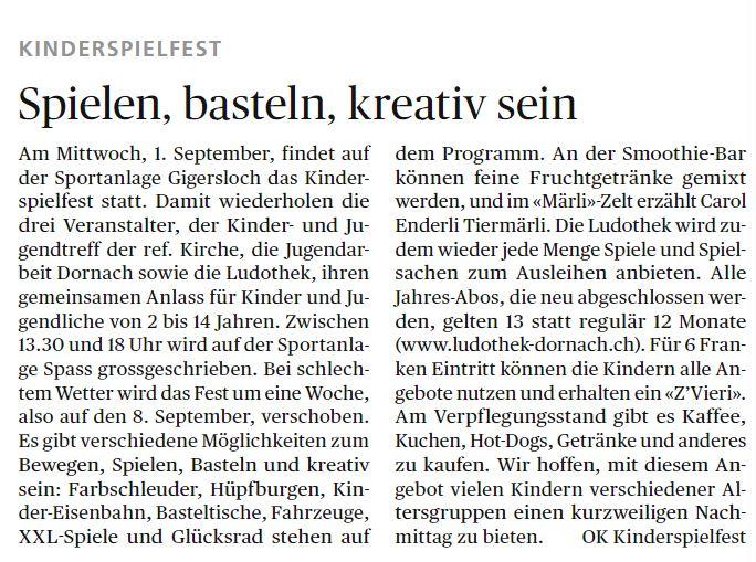 Wochenblatt vom 26.08.2021