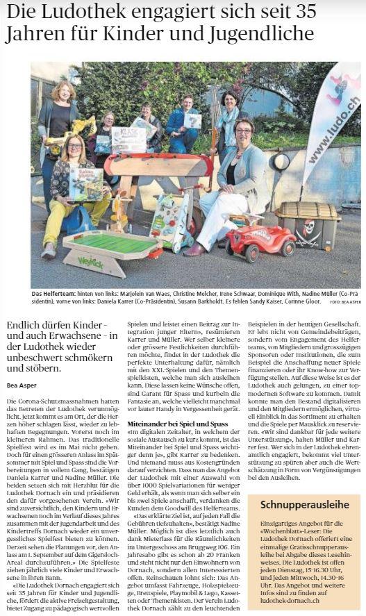 Wochenblatt vom 06.05.2021