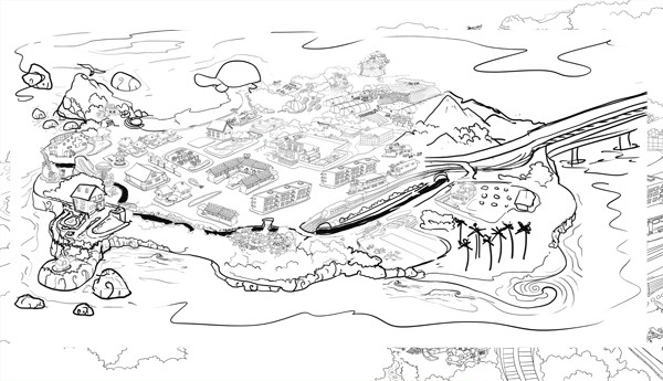 childrens books digital art drawing map tutorial