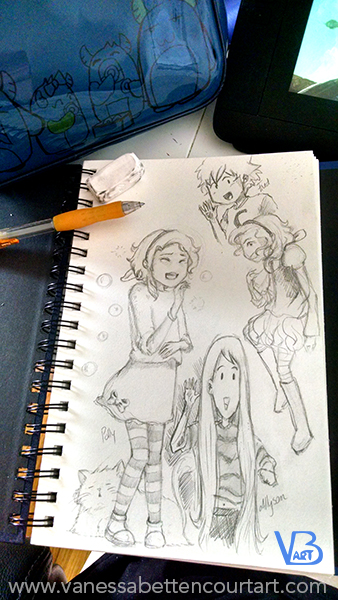 sketches drawing character design graphic novel wips sketchbook anime style