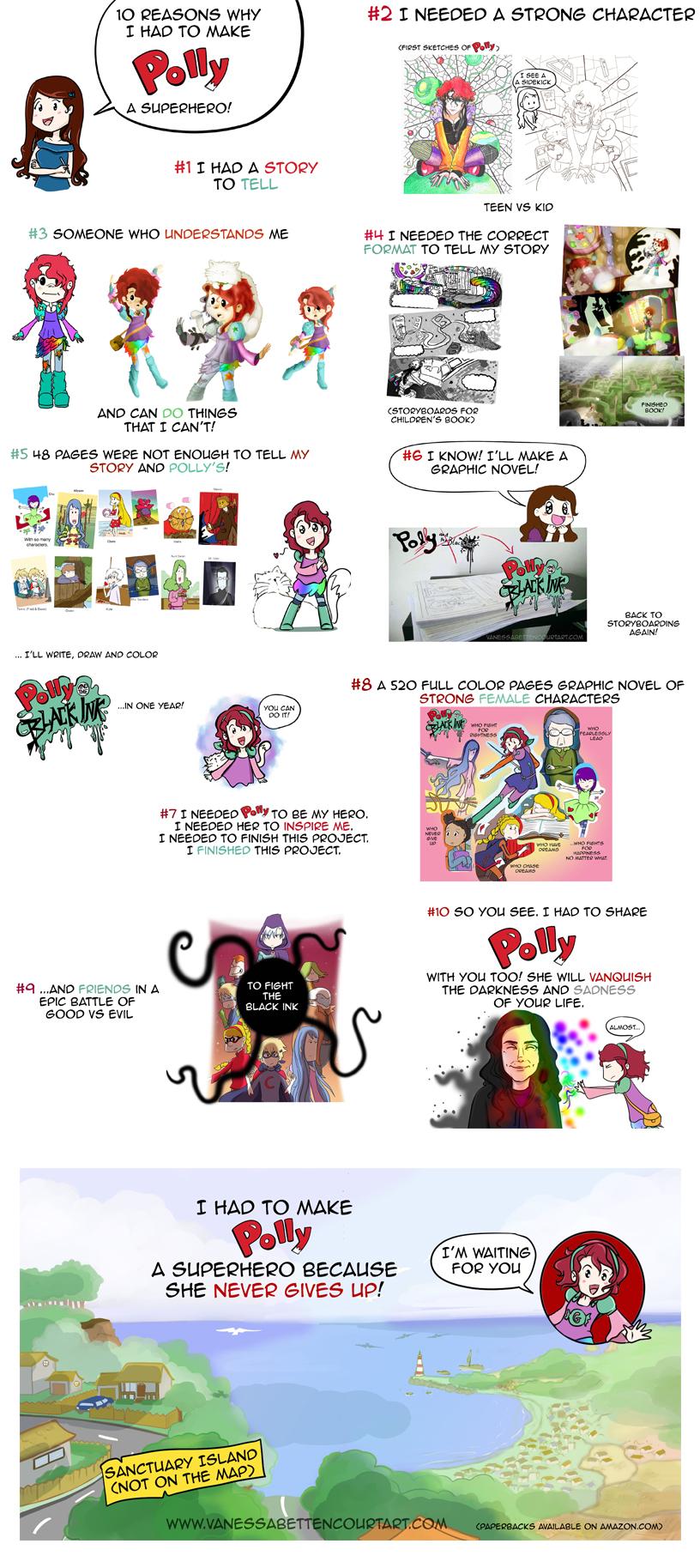 character design, graphic novel, evolution, drawing evolution, character evolution, polly mason, vanessa bettencourt art