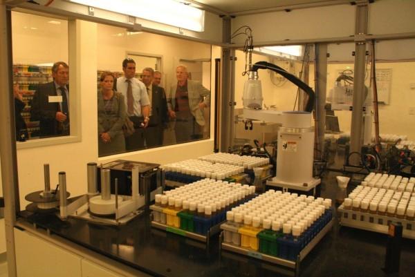 Dem interdisziplinären Howard Hughes Medical Institute stattete die Delegation auch einen Besuch ab.