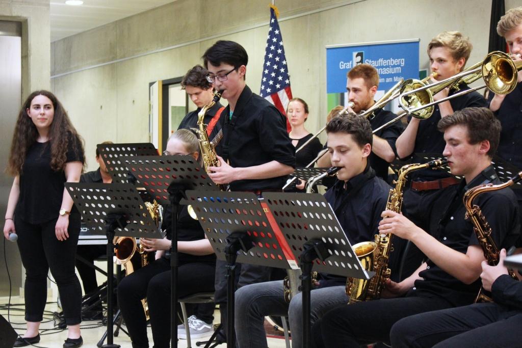 Die Band des Graf-Stauffenberg-Gymnasiums lieferte die Musik