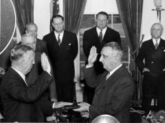 Vereidigung als Außenminister, 21. Januar 1947 (Bild: Truman Library)