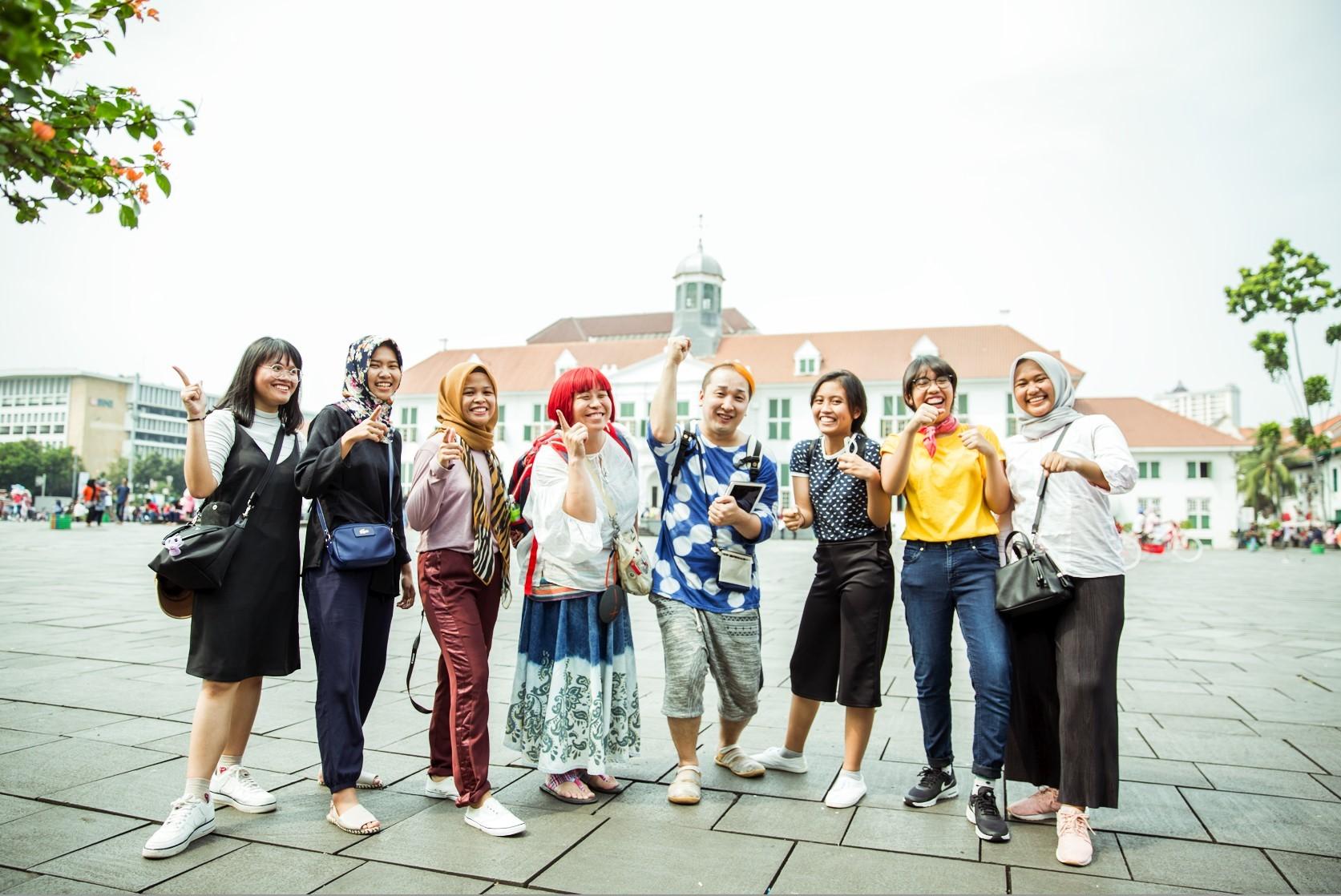 インタビュー後記念撮影@Museum Sejarah Jakarta