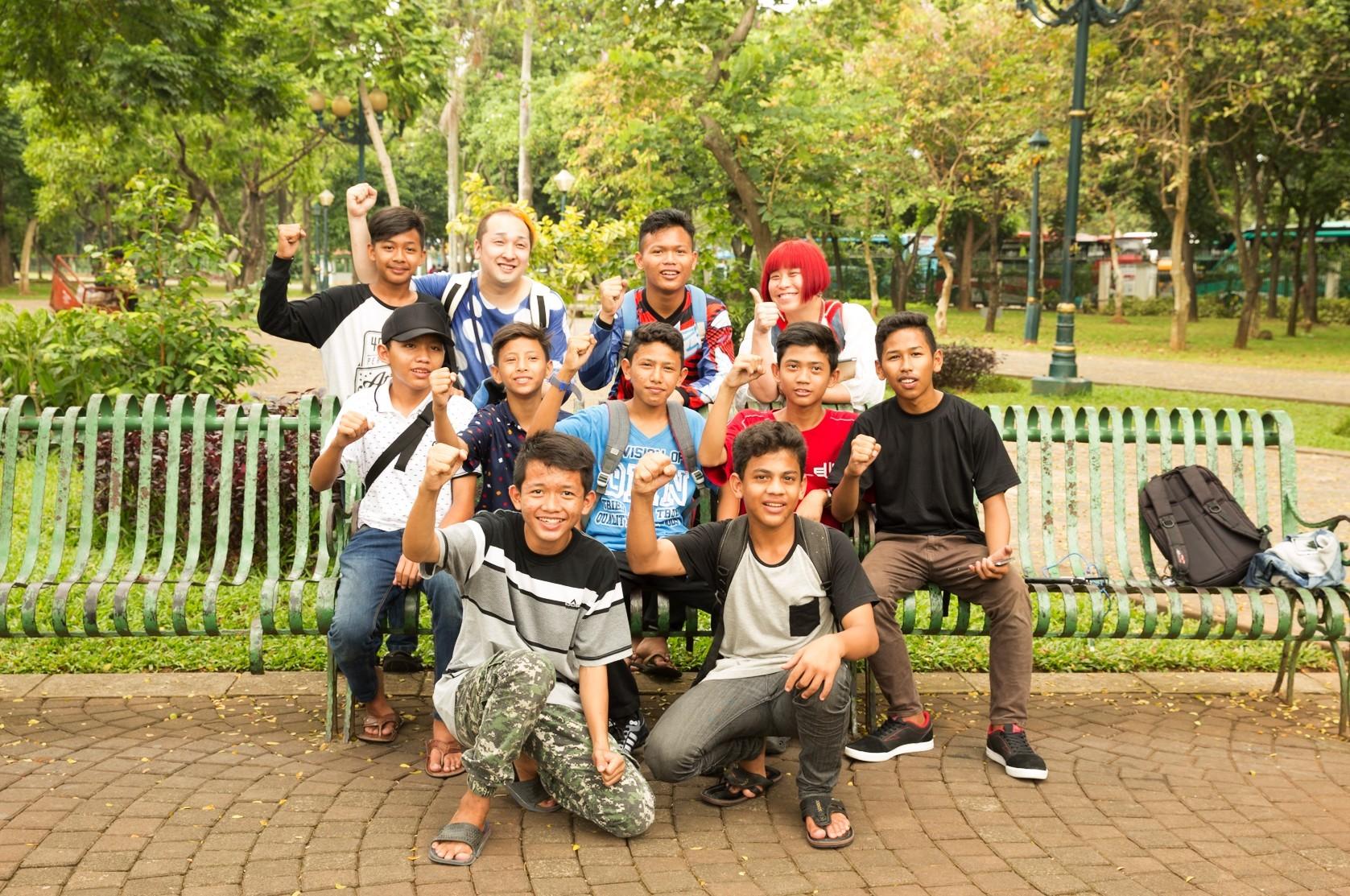 ジャカルタの少年たちと@Monas