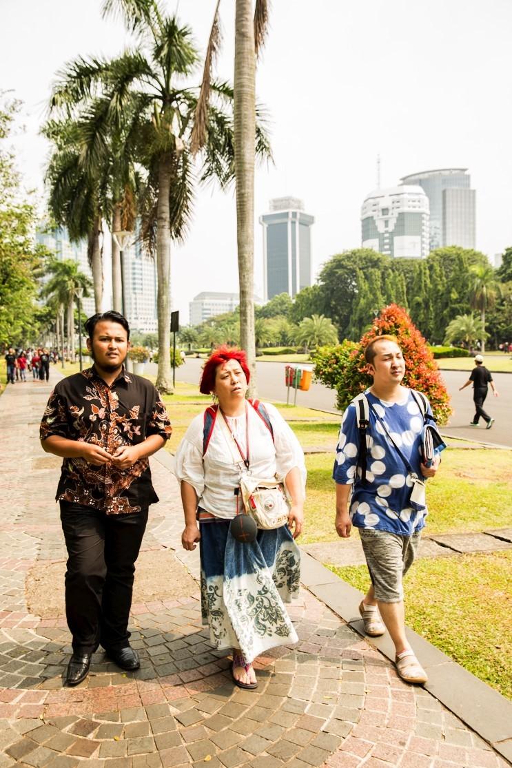 ガイドのTamaちゃんと。@Monumen Nasional 略してMonas