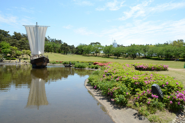 酒田/2012年新緑の日本一周・金環日食クルーズ 日和山公園