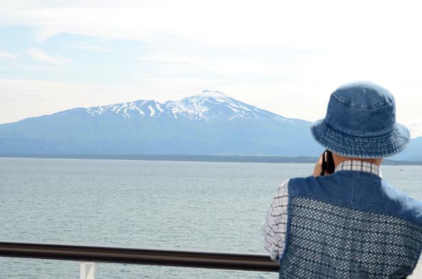 酒田/2012年新緑の日本一周・金環日食クルーズ 船からの鳥海山