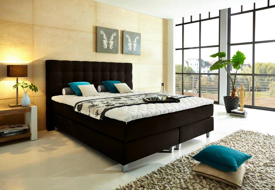 boxspringbett rockstar in schwarz grau braun etc welcon. Black Bedroom Furniture Sets. Home Design Ideas