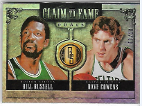 BILL RUSSELL & DAVE COWENS / Claim to fame - No. 24  (#d 8/10)