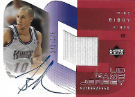 MIKE BIBBY / UD Game Jersey - No. AU-MB  (#d 242/275)