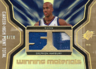 STEPHON MARBURY / Winning Materials - No. WMJ-ST  (#d 8/10)