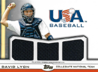 DAVID LYON / USA Baseball Triple Jersey - No. TR-DL  (#d 9/10) !!! 9 € !!!