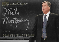 MIKE MONTGOMERY / Coaches Blackboard - No. BB-MM  (#d 10/40)
