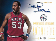 DARRYL DAWKINS / Immortalized Autographs - No. 22  (#d 4/10)