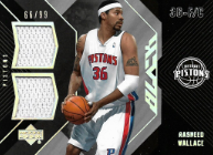 RASHEED WALLACE / Black Jersey - No. DM-RW  (#d 66/99)