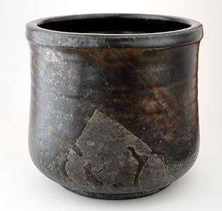 Raku Vasen schwarz glänzend schillernd