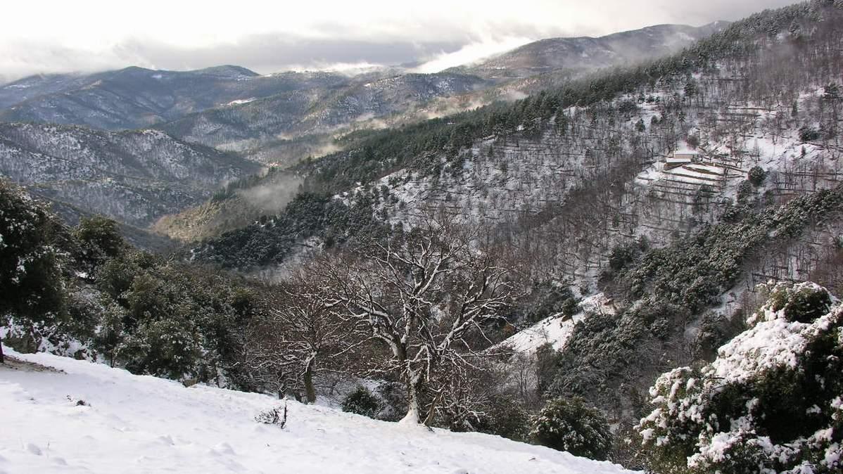 Cet hiver, un beau manteau de neige a recouvert Saint-Frézal de Ventalon