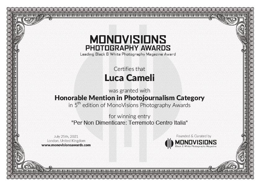 MonoVisions Photography Awards 2021 ~ Per Non Dimenticare: Terremoto Centro Italia 2016