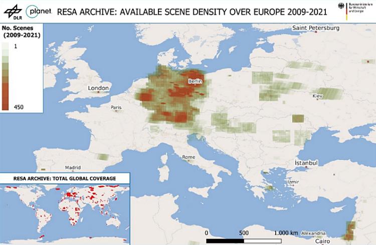 Hochauflösende optische Satellitendaten für deutsche Forschungsprojekte