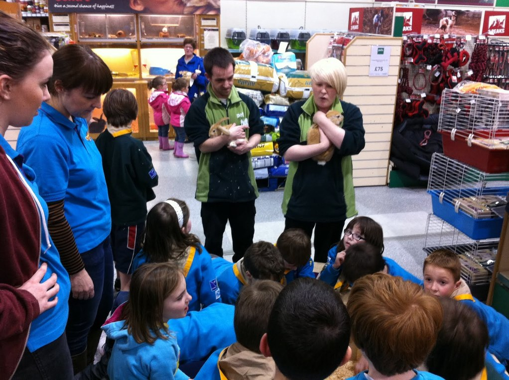 cubs and scouts learn all about taking care of pets