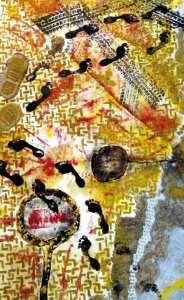 Huellas, pintura de Estefanía Montoya E.