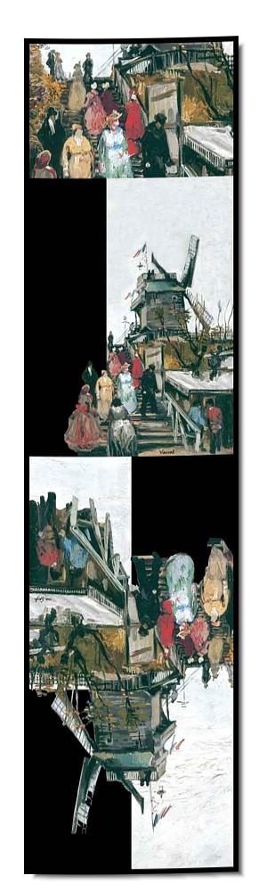 Artikel Nr. 2054 Mühle Blute-fin - van Gogh (180 x 45 cm)