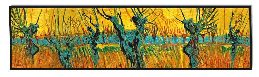 Artikel Nr. 2049 Weiden - van Gogh (180 x 45 cm)
