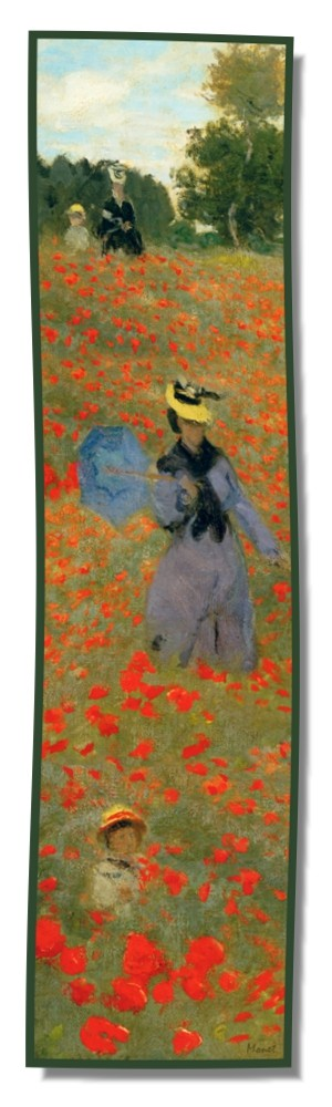Artikel Nr. 2036 - Mohnblumen - Monet (175 x 46 cm)