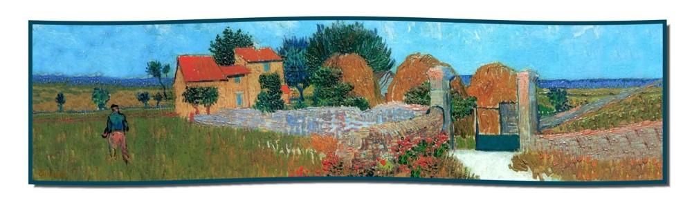 Artikel Nr. 2056 Bauernhaus Provence - van Gogh (180 x 45 cm)