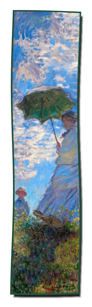 Artikel Nr. 2038 Frau mit Sonnenschirm - Monet (180 x 45 cm)