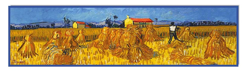Artikel Nr. 2055 Ernte in der Provence - van Gogh (180 x 45 cm)