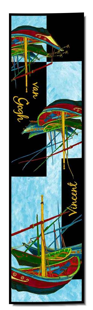 Artikel Nr. 2045 Fischerboote - van Gogh (180 x 45 cm)