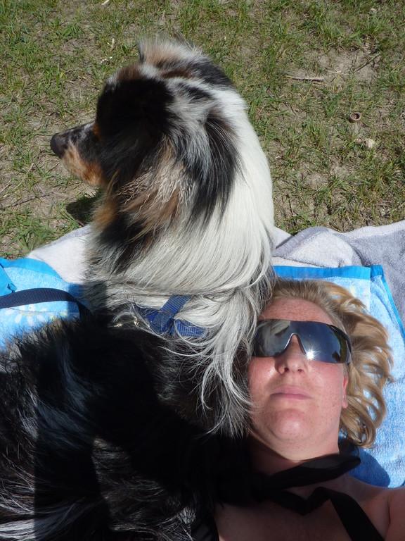 Sonnenbad mit Frauli
