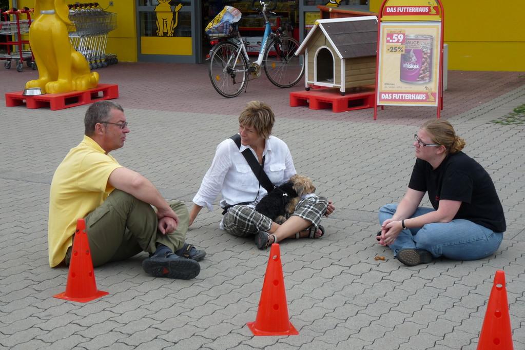 im Gespräch auf Hundehöhe