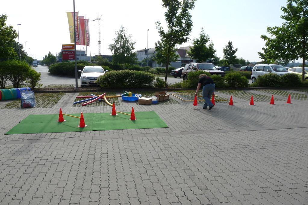 Parcours-Aufbau