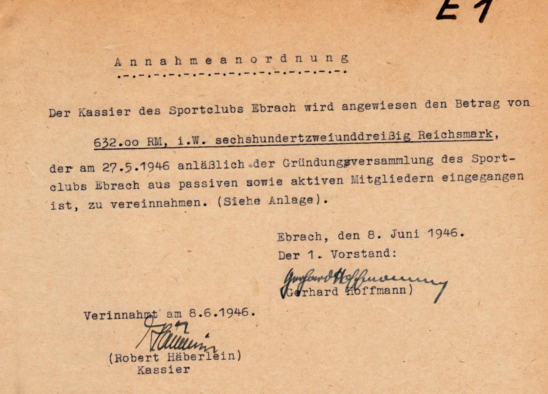 Wie hoch war unser Gründungskapital 1946?