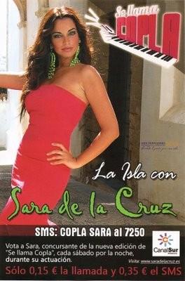 CARTEL  DEL CLUB DE FANS OFICIAL SARA DE LA CRUZ