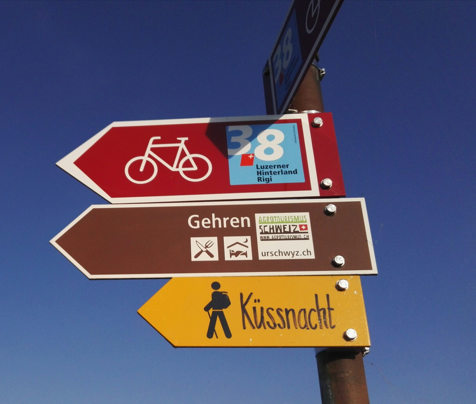 Wandergruppe Start 17.45 Gasshof - Tschädigen