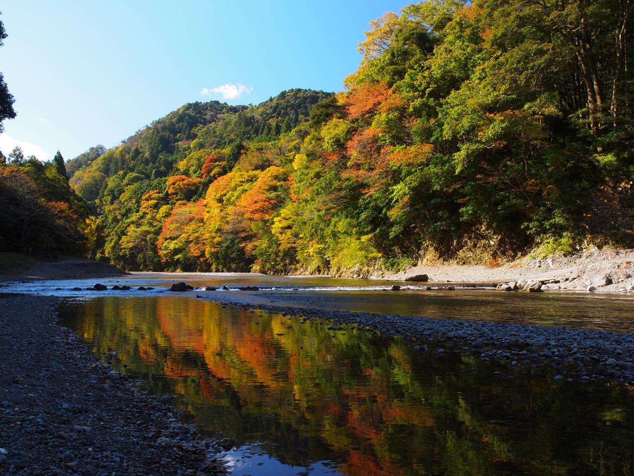 西南濃の四季~秋~牧田川