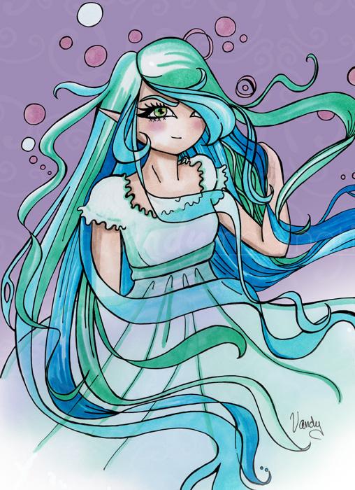 """""""Snow-Lilia"""" Feutres Chameleon sur papier, imprimé sur toile"""