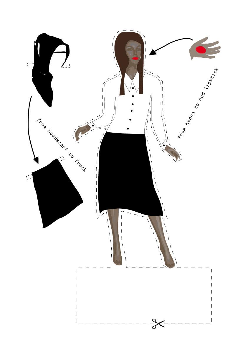 Die Schaufensterpuppe - Illustration für Orhan Pamuks Buch ,,Das schwarze Buch``