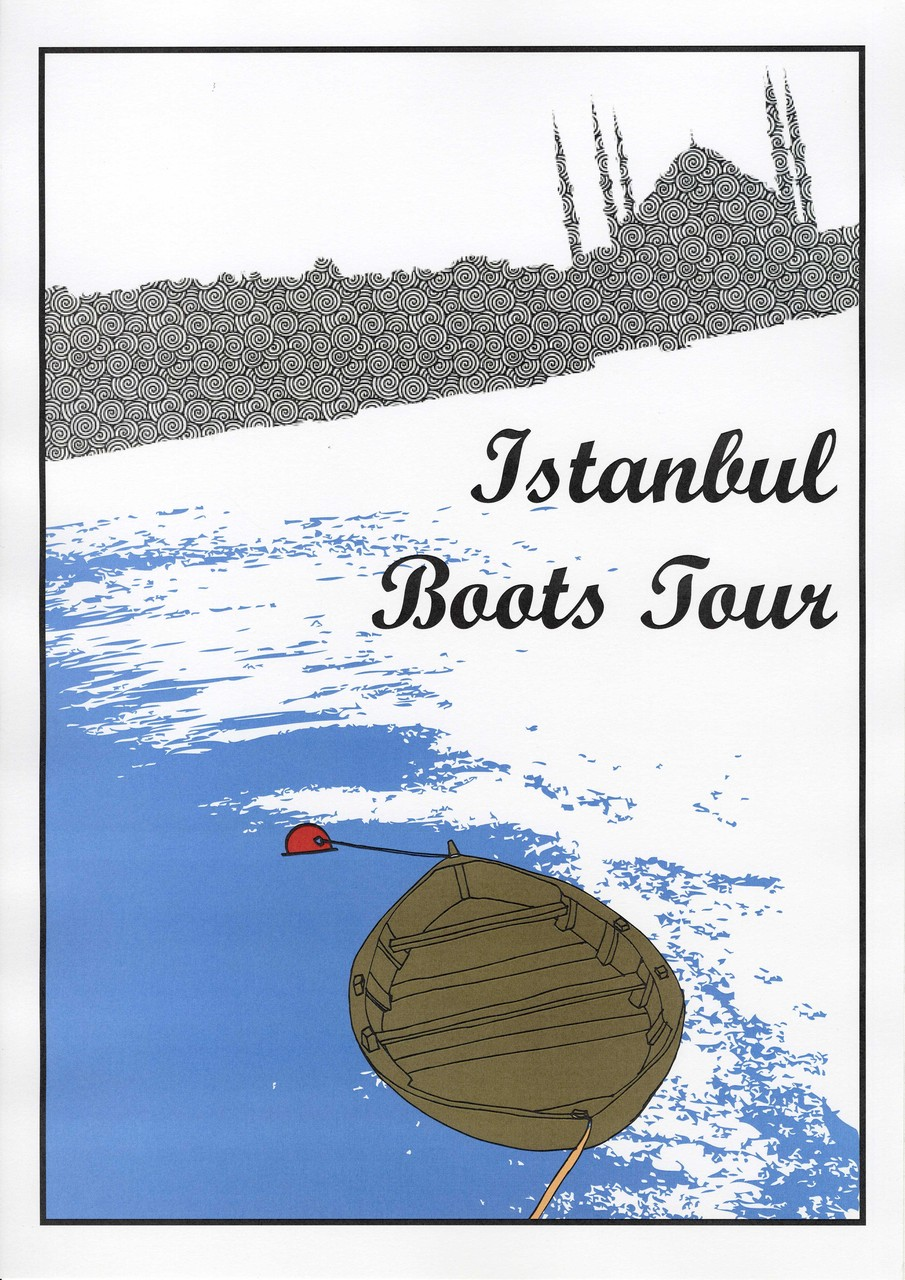 Istanbul Postcard - Illustration for Orhan Pamuks Book ,,The black Book``