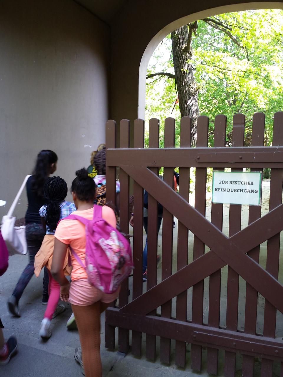 Für Besucher kein Durchgang