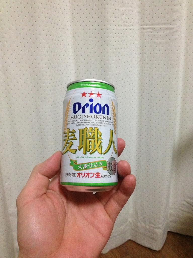 第三十三話 沖縄デートプラン  ・オリオンビールの発泡酒「麦職人」。ヨシロウはこれを毎日必ず二本以上飲んでいます。