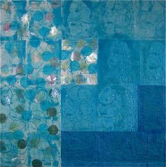 """""""Azurblau oder die Leichtikeit des Seins, 114 x 116 cm"""